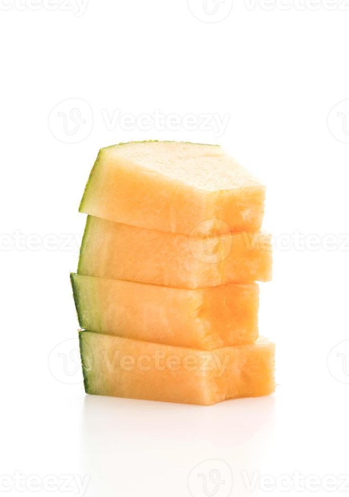 melão melão em fundo branco foto