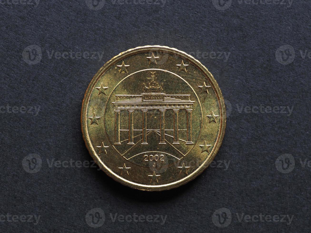 moeda de cinquenta centavos de euro foto