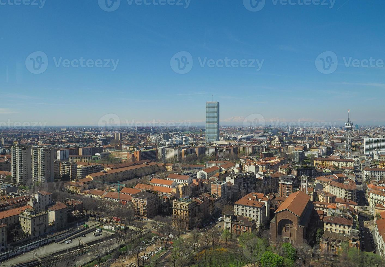 vista aérea de Milão foto