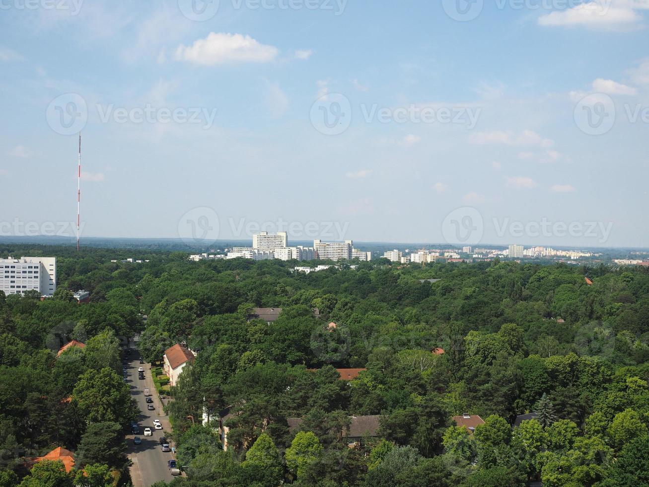 vista aérea de berlim foto