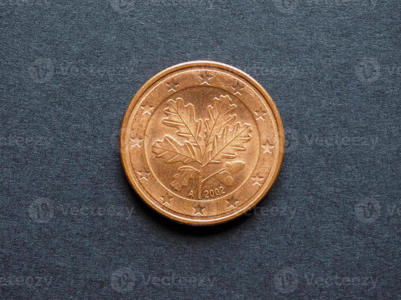 moeda de cinco centavos de euro foto