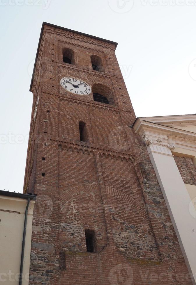 campanário da igreja santa maria di pulcherada em san mauro foto