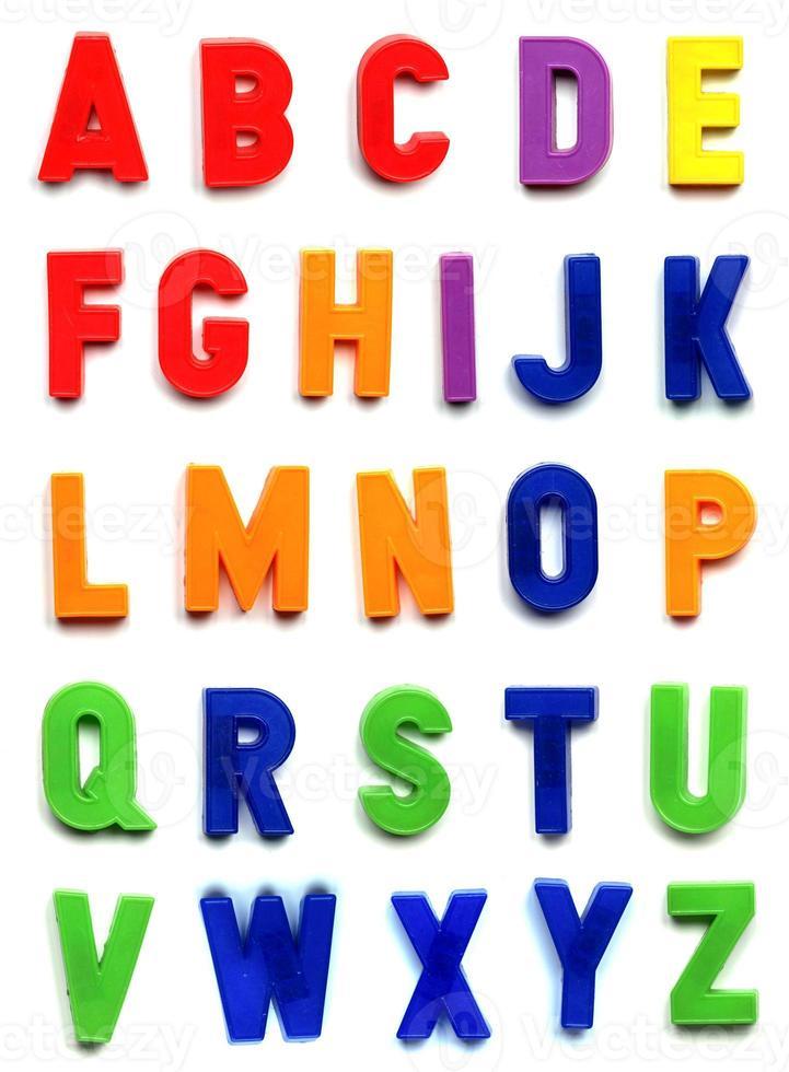 letras do alfabeto britânico foto