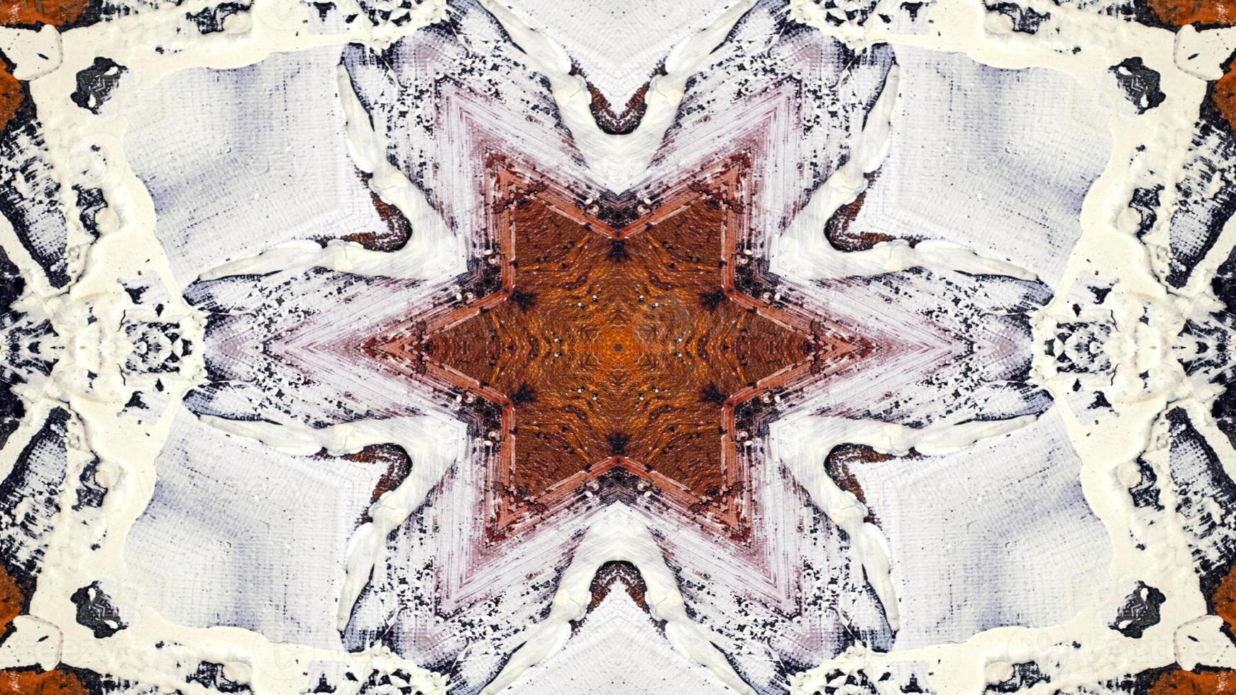pincel de tinta caleidoscópio foto