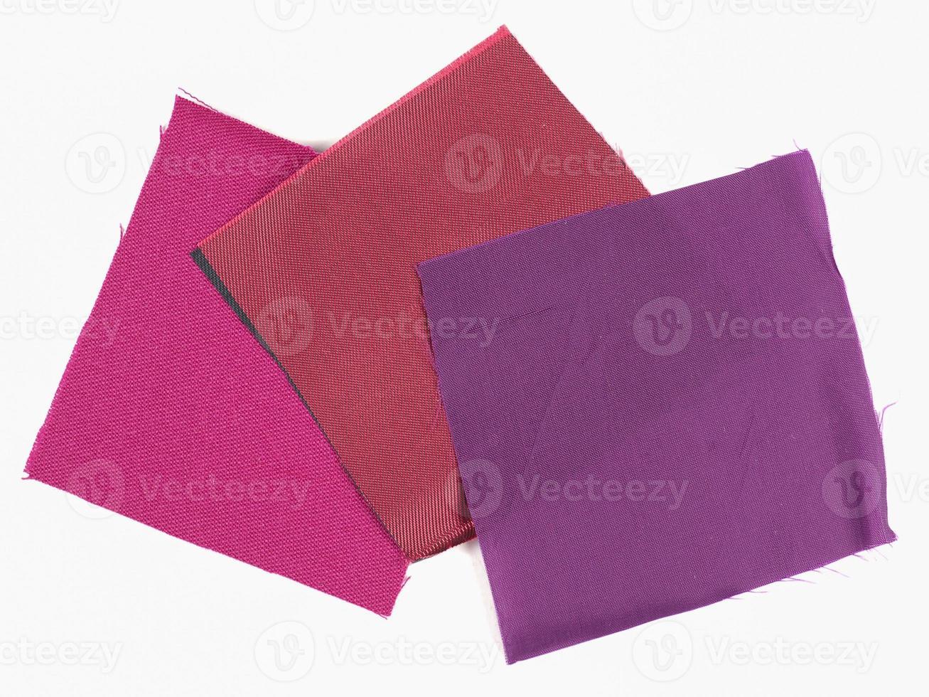 amostra de tecido roxo foto