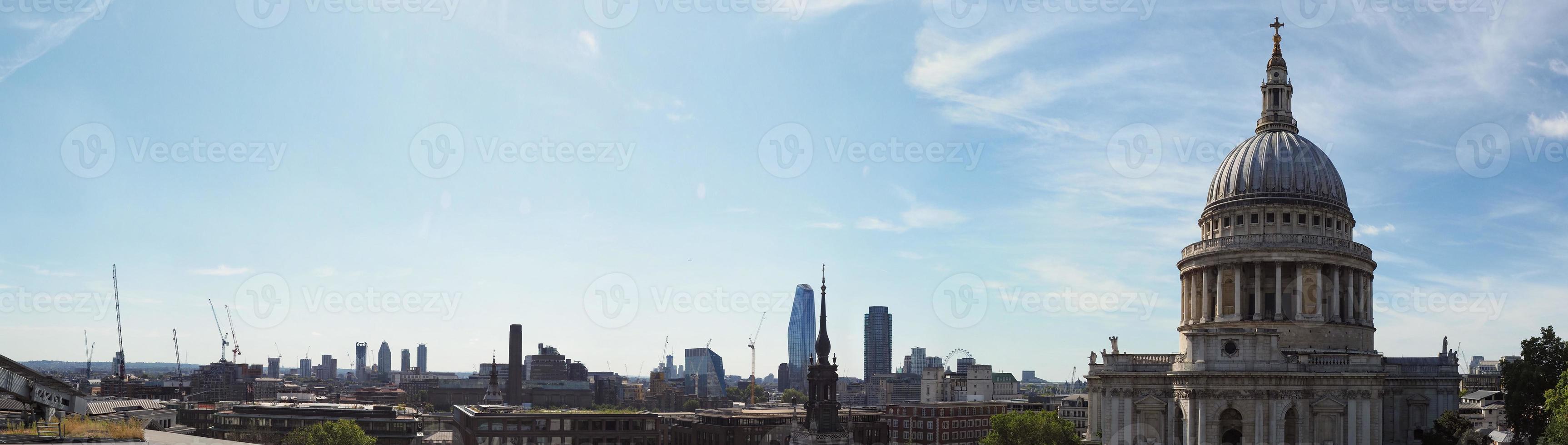 ampla vista panorâmica de Londres foto