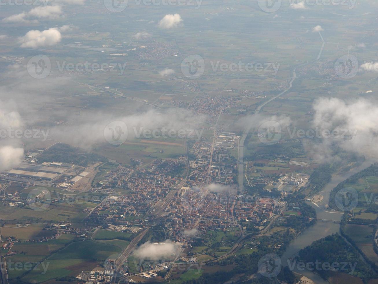 vista aérea de chivasso foto