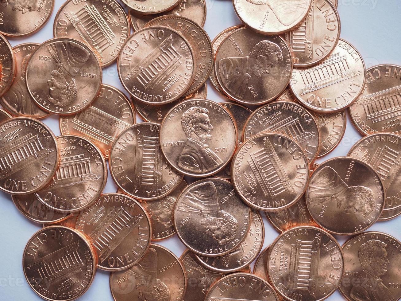 fundo de moedas do dólar foto