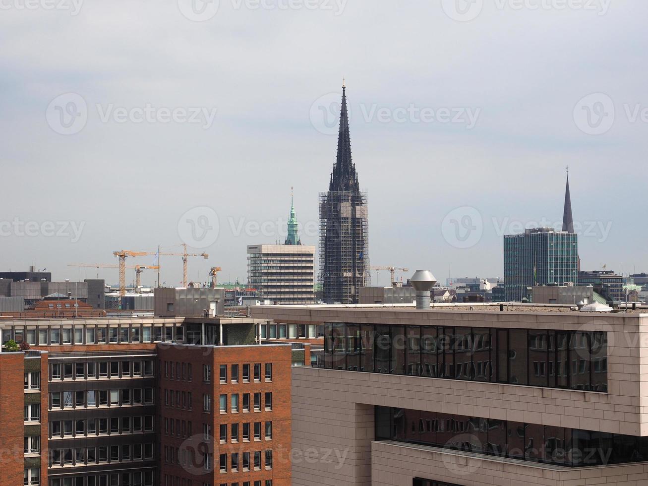 vista do horizonte de hamburgo foto