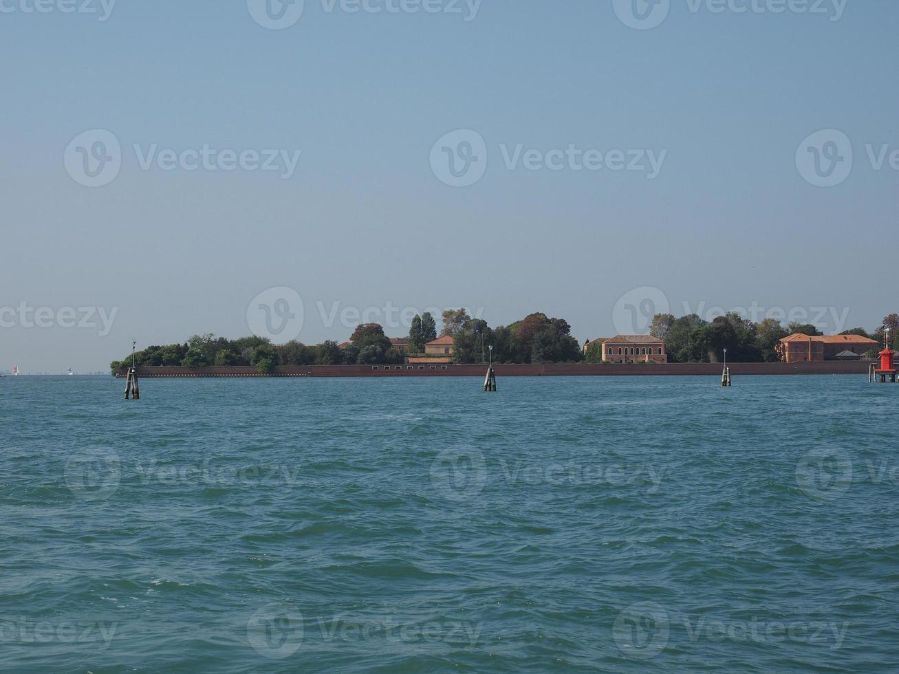 Ilha San Servolo em Veneza foto