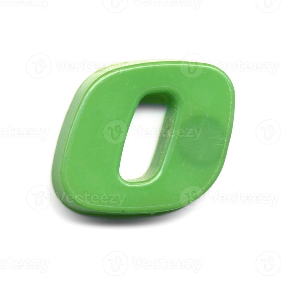 número magnético de plástico 0 foto