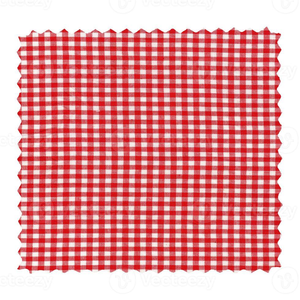 amostra de tecido xadrez isolada foto