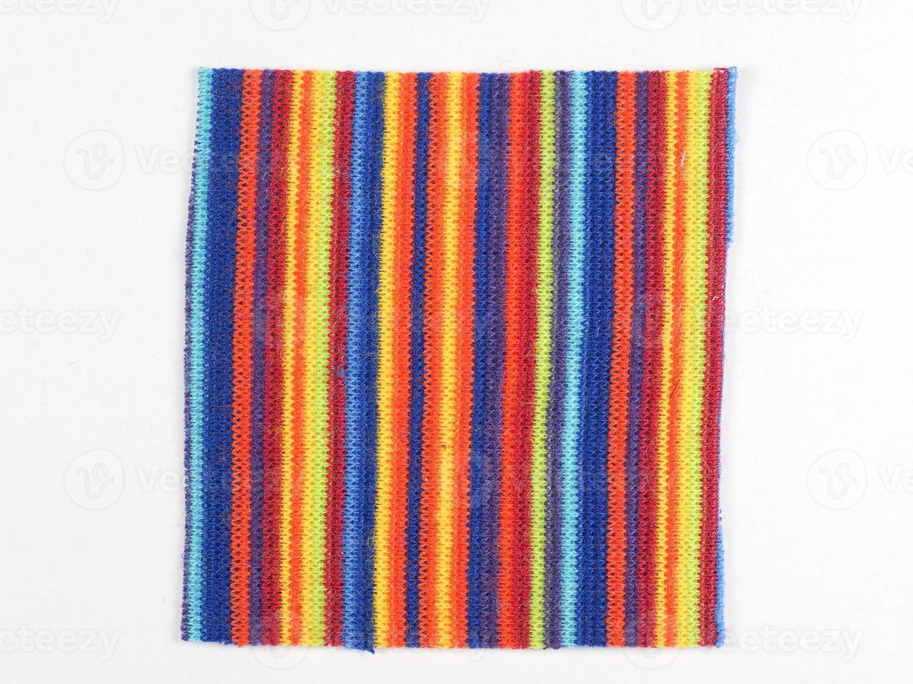 amostra de tecido multicolorido foto