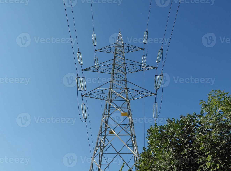 torre de linha de transmissão foto