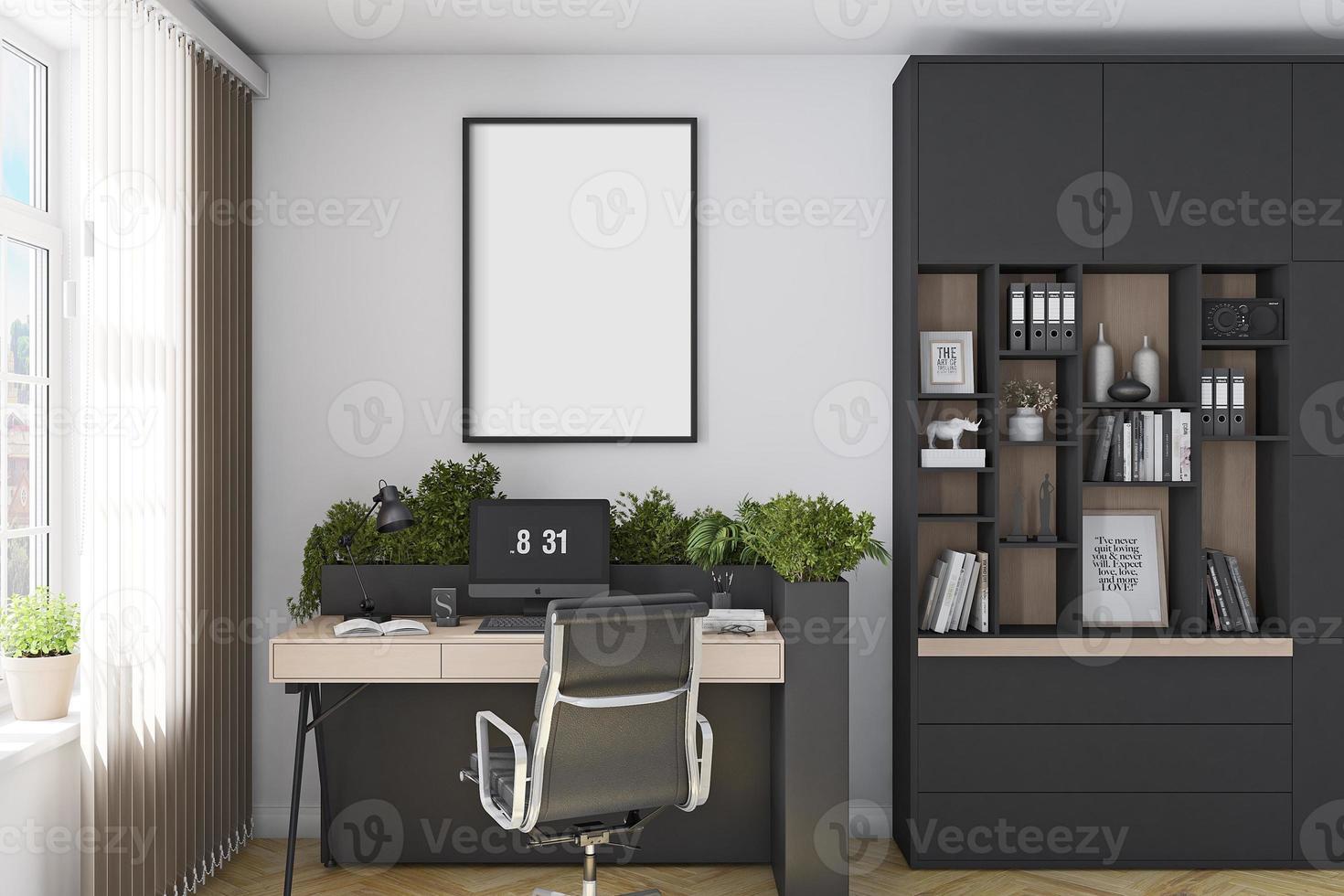 maquete da moldura do interior do escritório - 865 foto