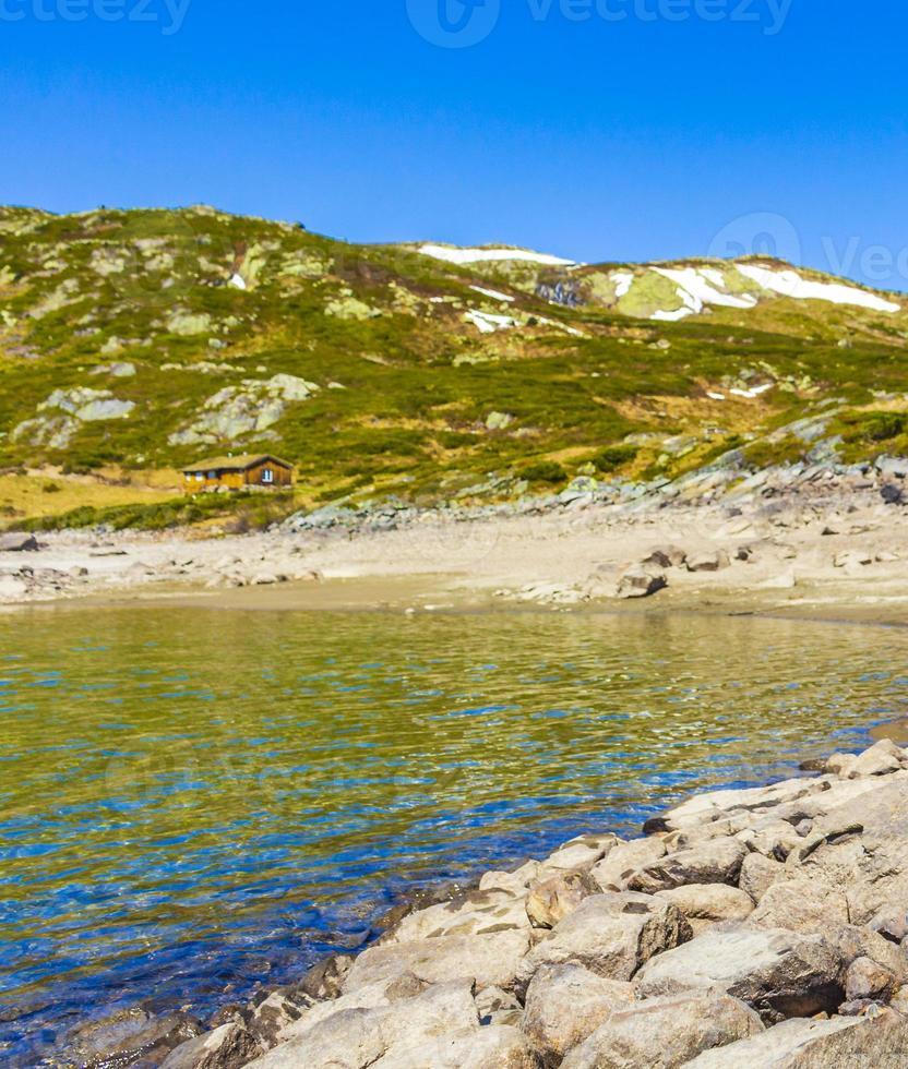 panorama do lago vavatn, hemsedal, noruega foto