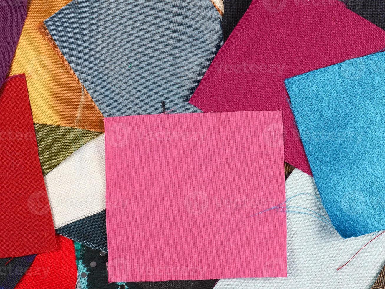 muitas amostras de tecido foto