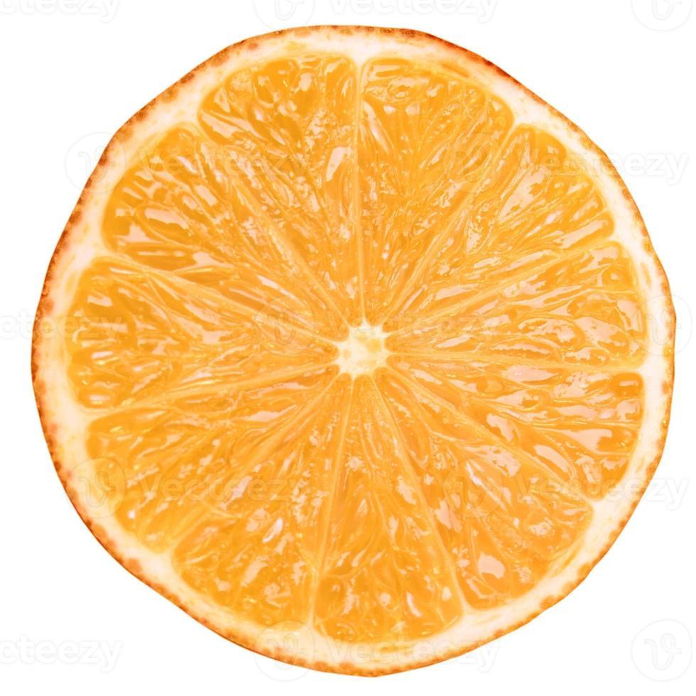 fatia de fruta laranja foto