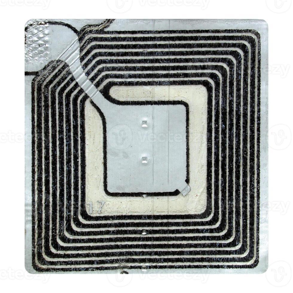 etiqueta de vigilância eletrônica de artigos foto