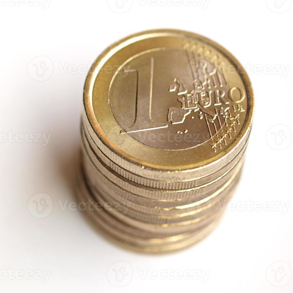 pilha de moedas de euro foto