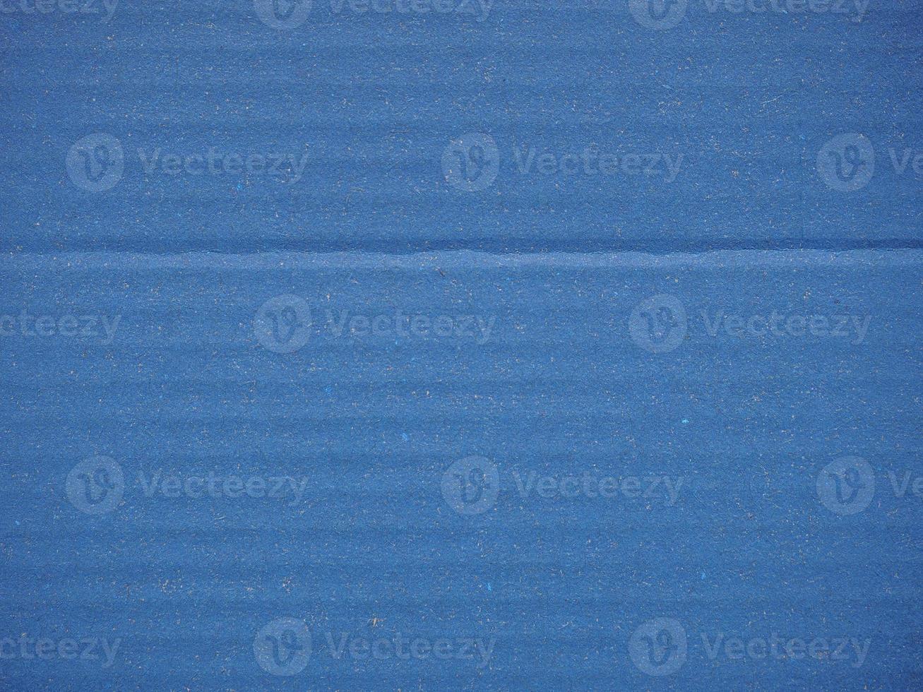 fundo de papelão ondulado azul foto