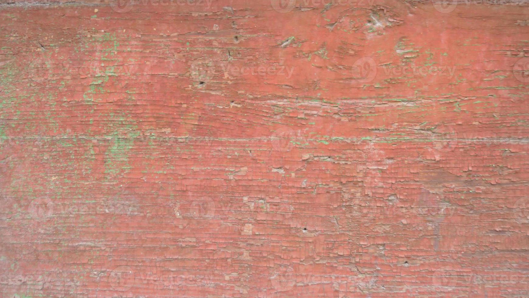 placa de madeira vintage retro quebrada textura pintada de vermelho imagem de fundo foto
