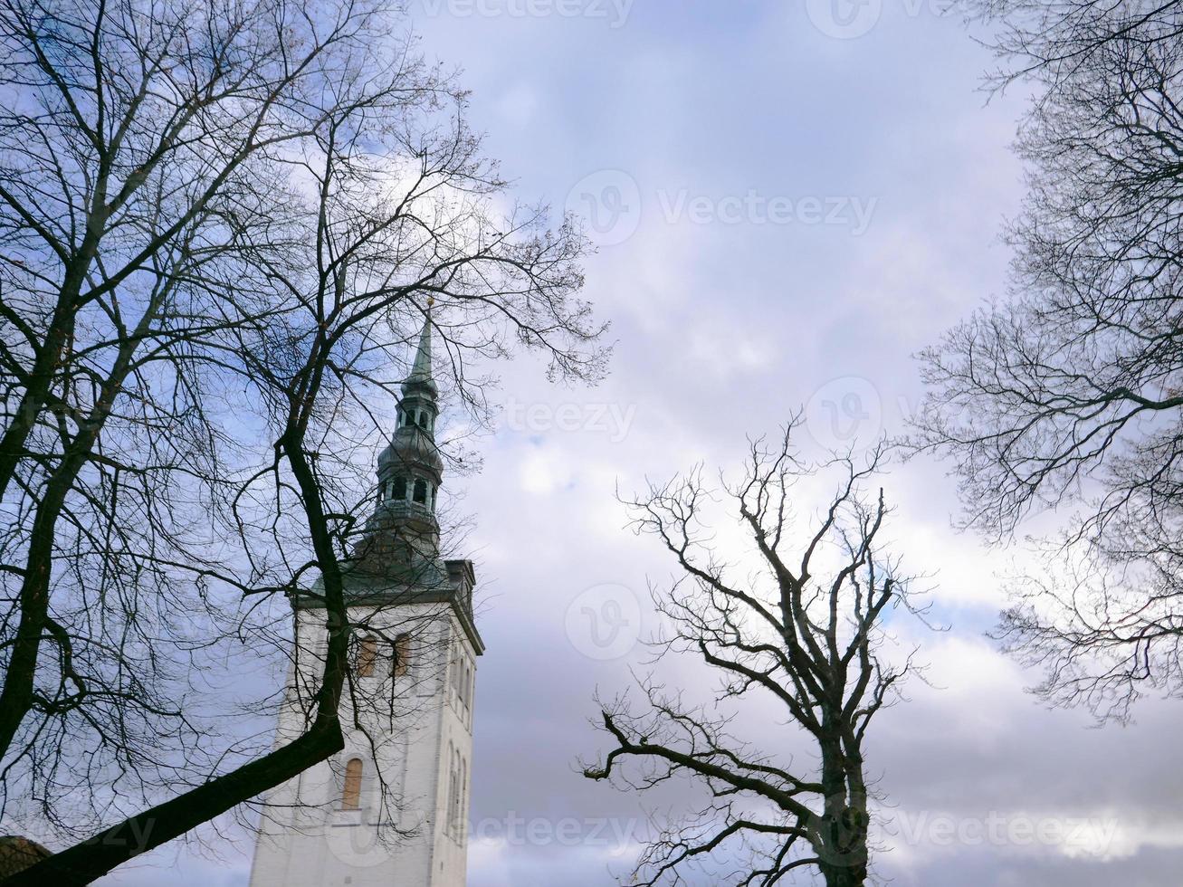 paisagem centro histórico cidade velha de tallinn, estônia foto