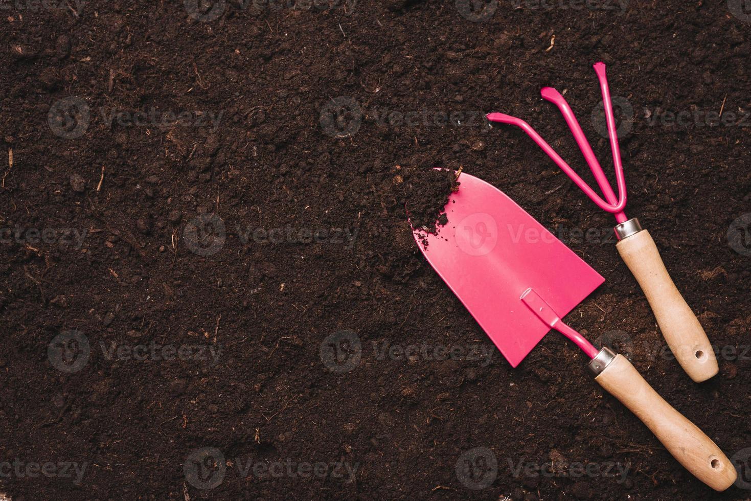 conceito de jardinagem com pá foto