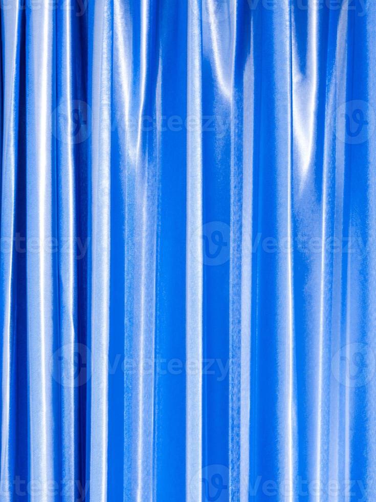 cortina de cor azul brilhante e brilhante foto