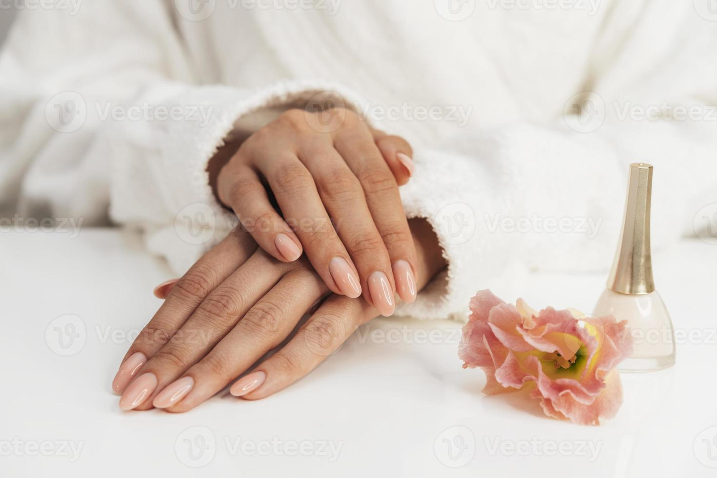 bela manicure saudável foto
