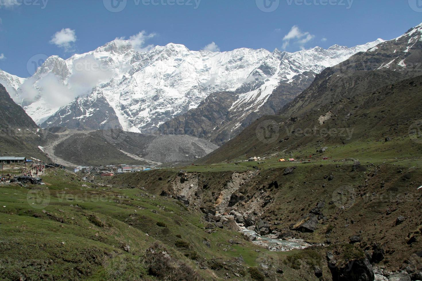 caminho da montanha do Himalaia foto