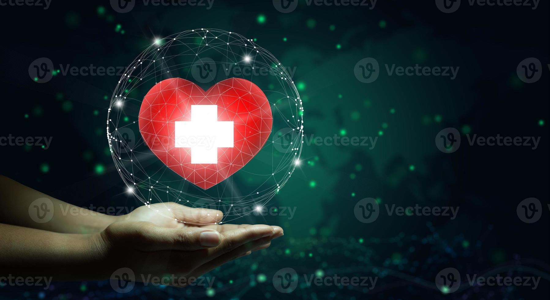conceito de cuidados de saúde, seguro saúde, caridade e medicina. foto