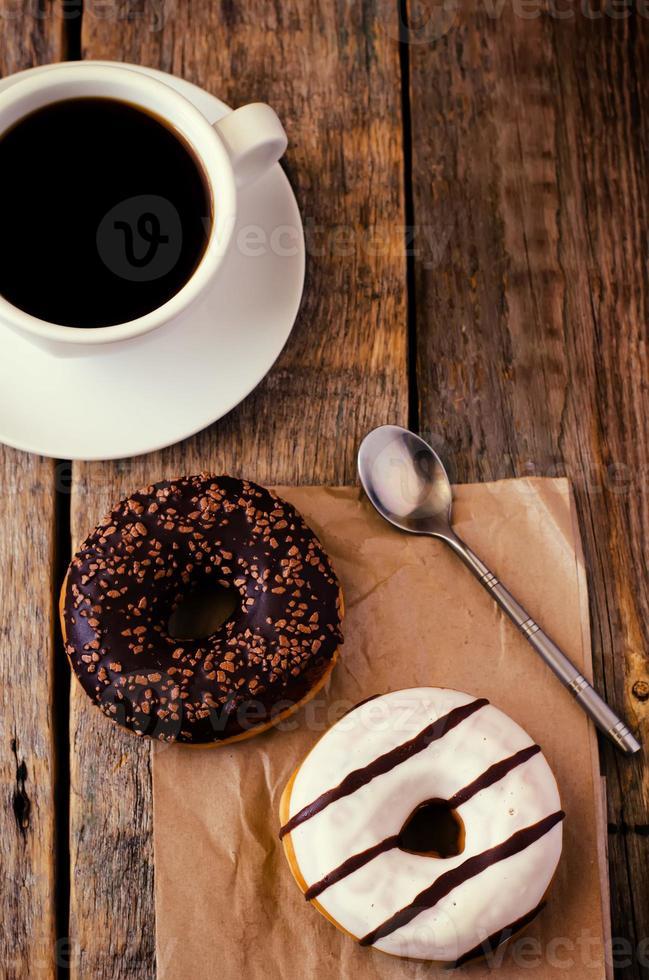rosquinhas e café foto