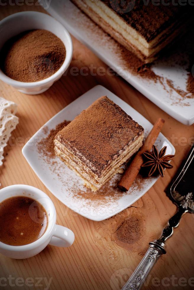 tiramisu, uma sobremesa tradicional italiana foto