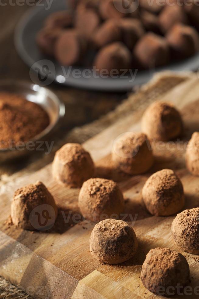 trufas de chocolate gourmet chiques foto