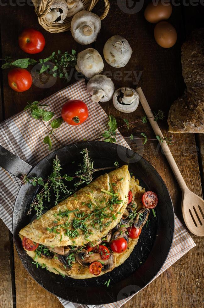 omelete rústica foto