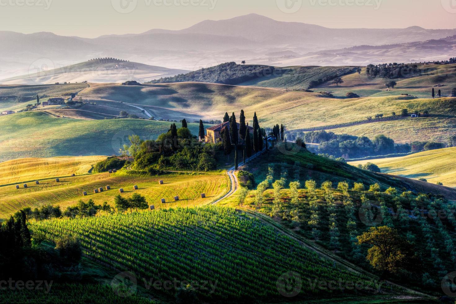 a paisagem toscana foto