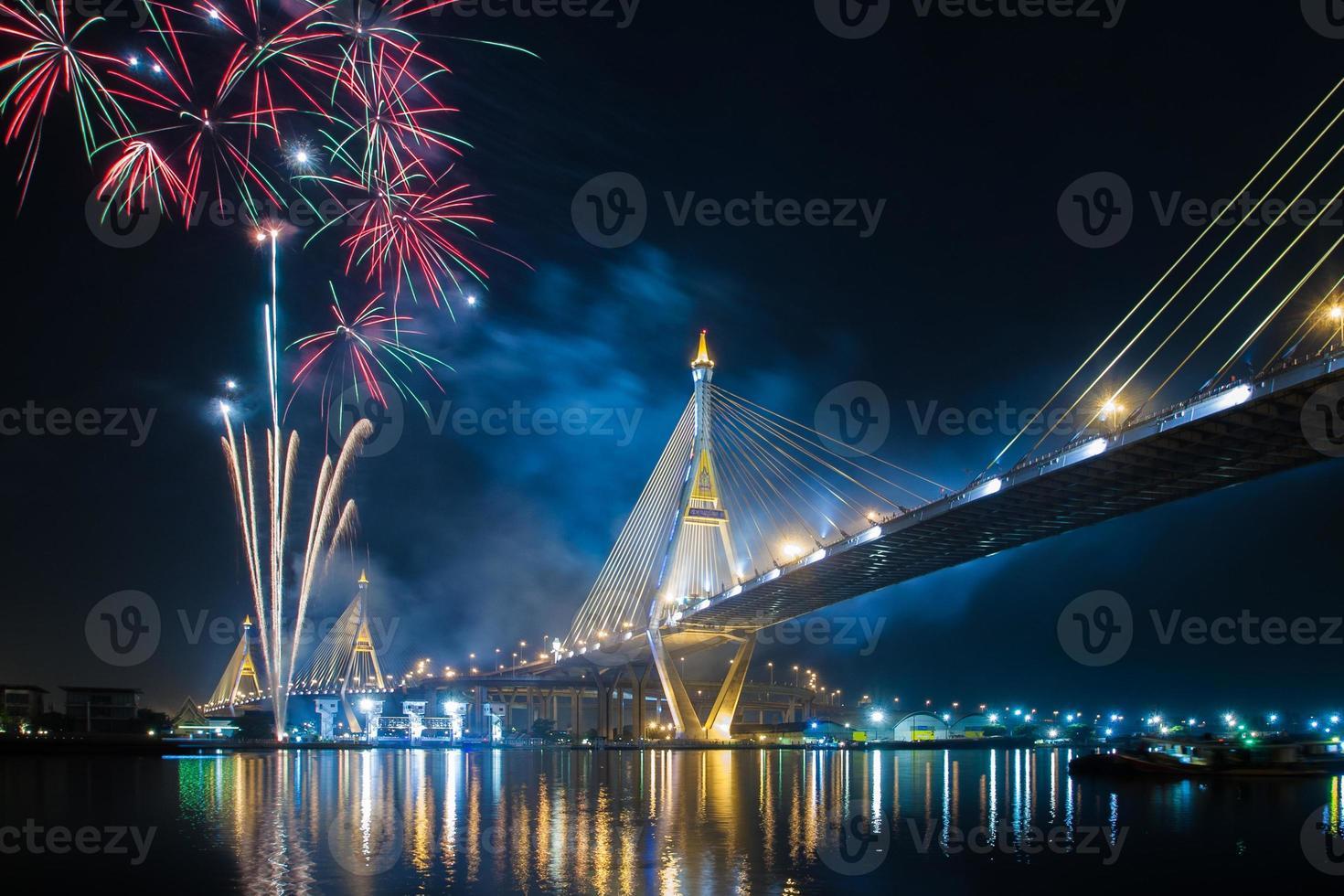 fogo de artifício viva o rei bkk Tailândia foto