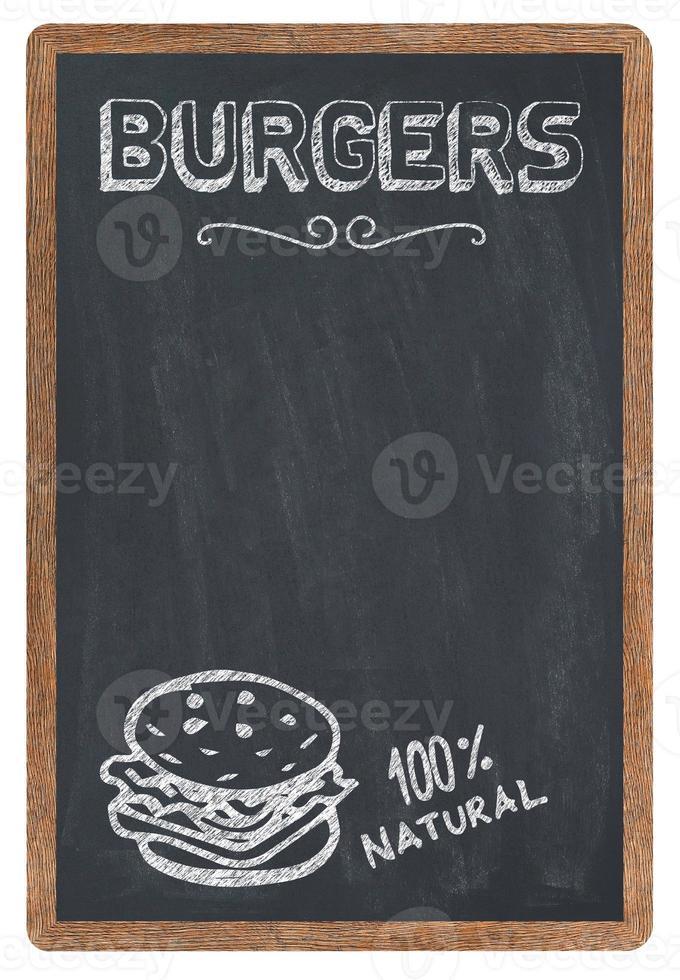 menu de hambúrgueres foto