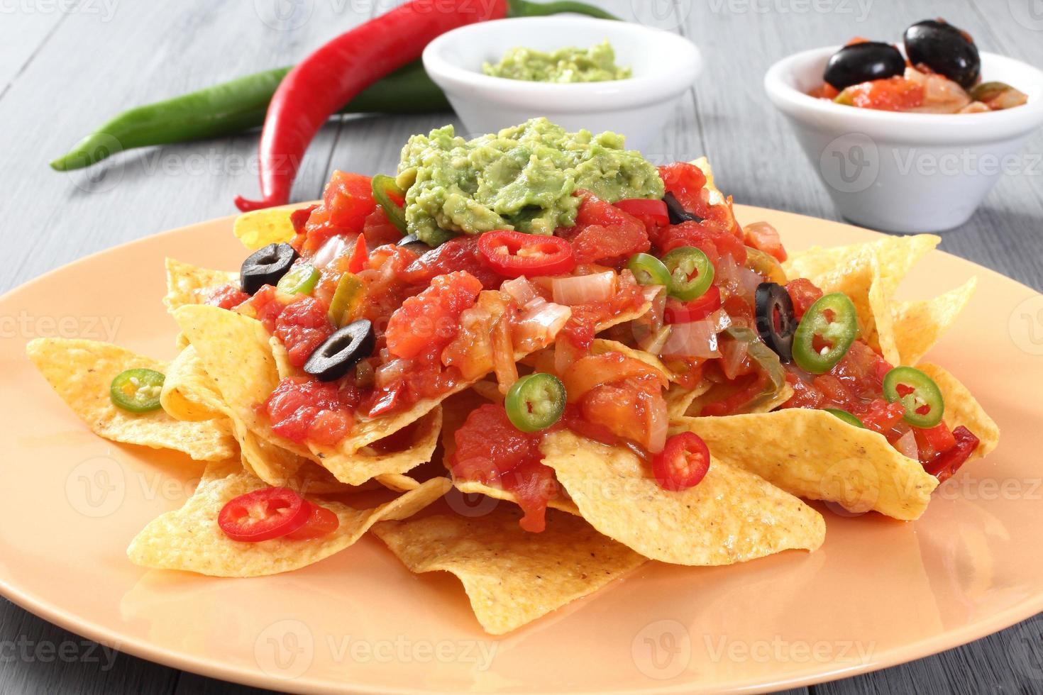 nachos com guacamole foto