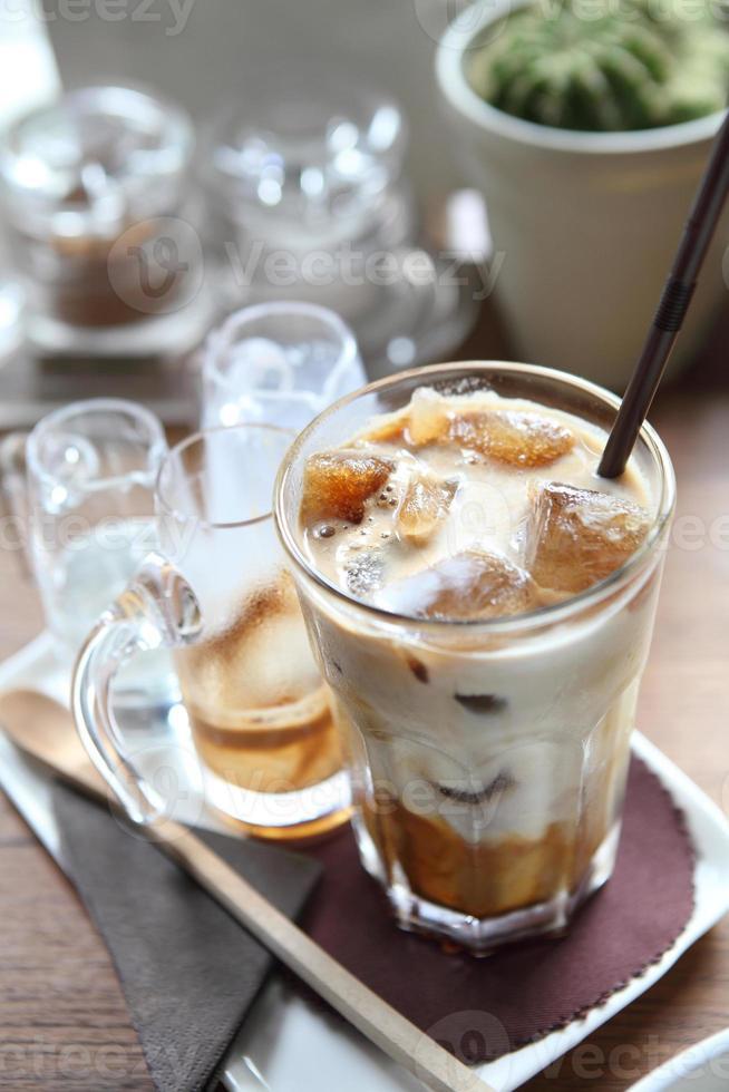 café com leite gelado foto