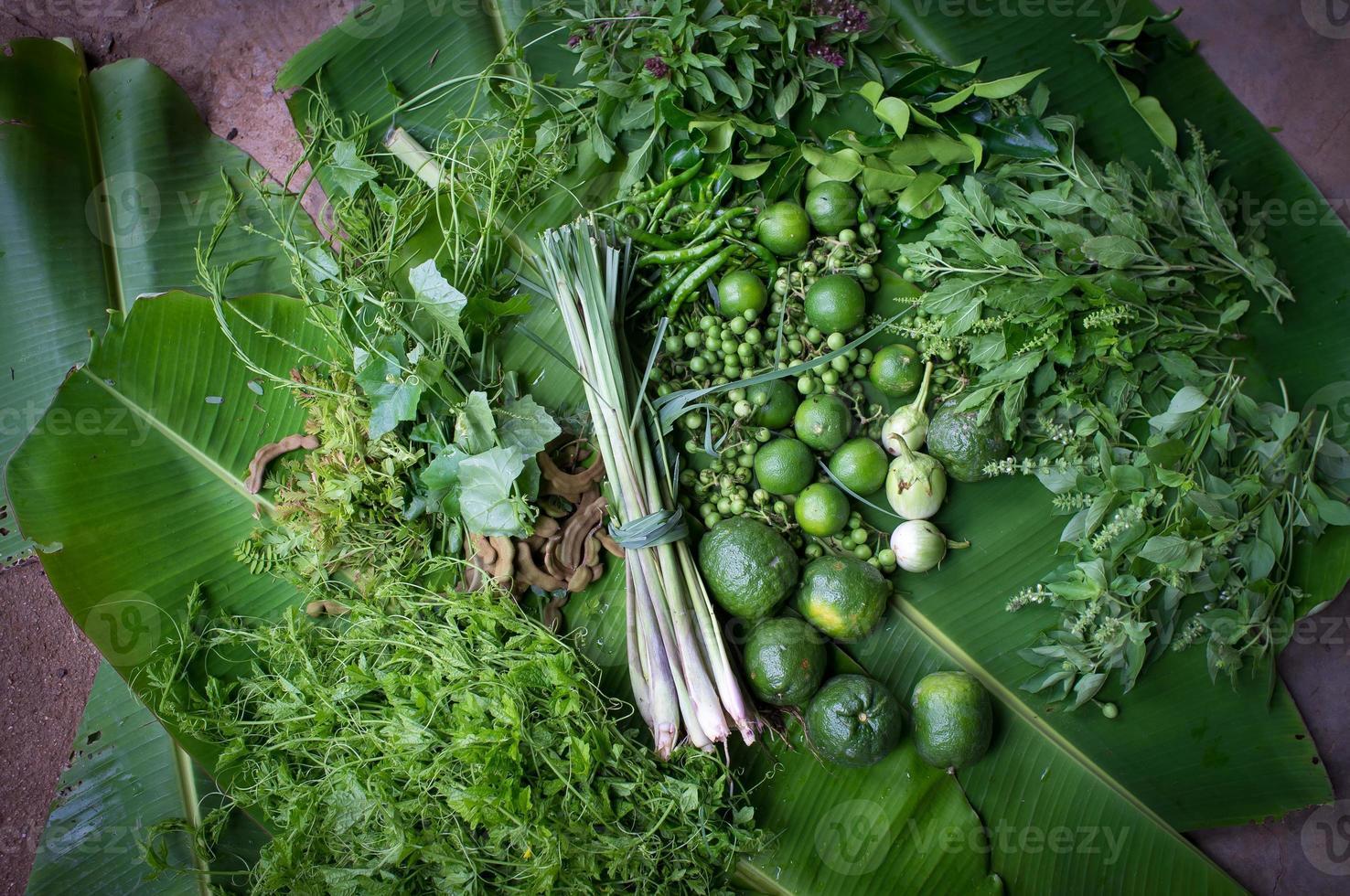 ingredientes de comida tailandesa foto