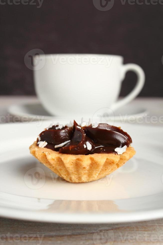 mini torta de chocolate foto