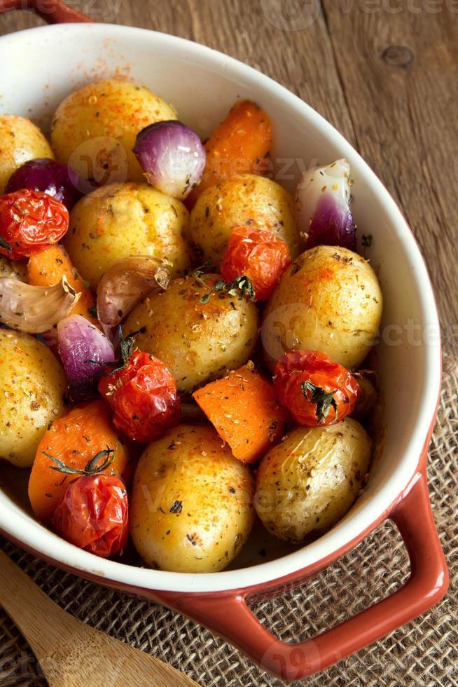 legumes cozidos no forno foto