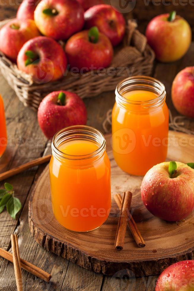 cidra de maçã laranja orgânica foto
