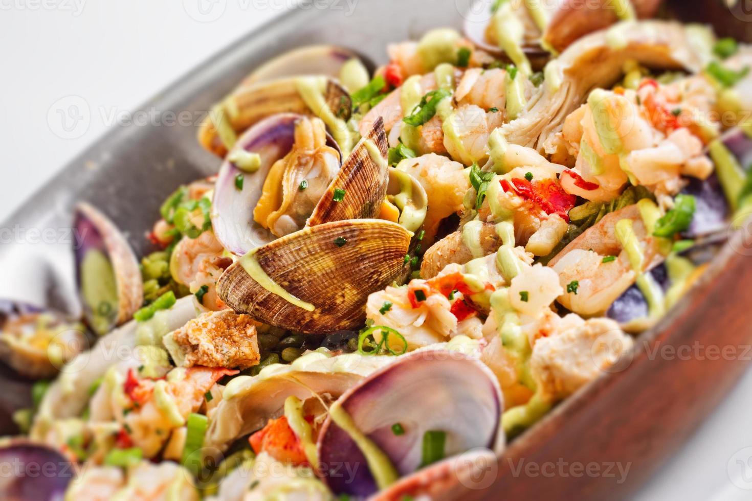 menu de frutos do mar foto
