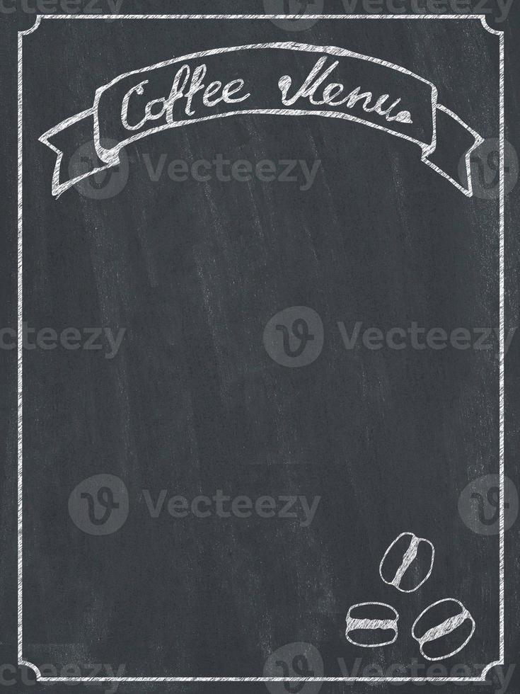 menu de café foto