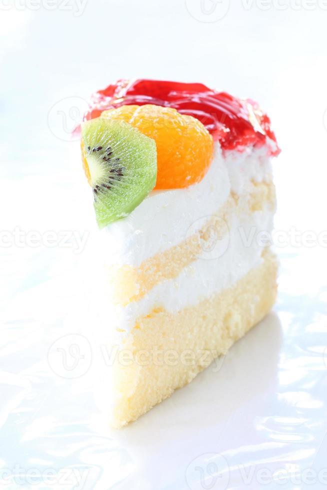 cheesecake de frutas de sobremesa de saúde. foto