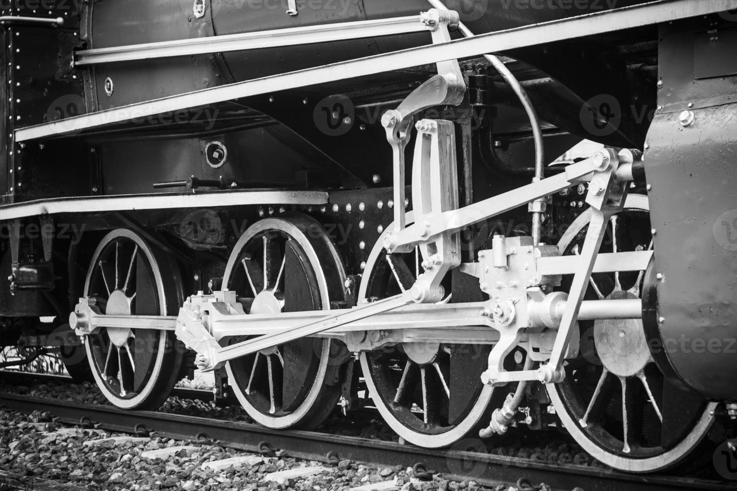 vintage velho trem, roda de trem foto
