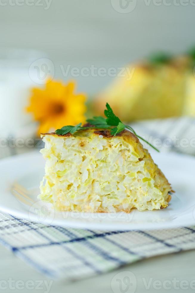 caçarola de arroz com abobrinha foto